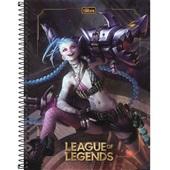 Caderno Universitário Capa Dura 80 FL League of Legends C 1 UN Tilibra
