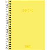 Caderneta Espiral Capa Plástica 1/8 sem Pauta Neon Amarelo 80 FL 1 UN Tilibra