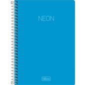Caderno Espiral Capa Plástica 1/4 Neon Azul 80 FL 1 UN Tilibra