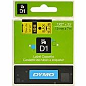 Fita para Rotulador Eletrônico 12mm x 7m Preto e Amarelo 45018 1 UN Dymo