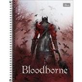 Caderno Universitário Capa Dura 10 Matérias 160 FL BloodBorne B 1 UN Tilibra