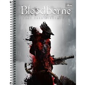 Caderno Universitário Capa Dura 10 Matérias 160 FL BloodBorne C 1 UN Tilibra