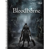 Caderno Universitário Capa Dura 10 Matérias 160 FL BloodBorne D 1 UN Tilibra