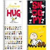 Caderno Universitário Capa Dura 10 Matérias 160 FL Snoopy Sortido 1 UN Tilibra