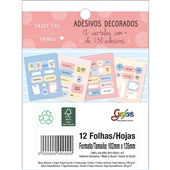 Bloco Adesivo Decorado Soho Grafon's 12 FL Tilibra