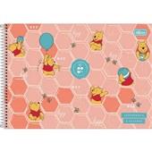 Caderno Cartografia e Desenho Capa Dura 80 FL Pooh A 1 UN Tilibra