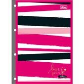 Folha Fichário Love Pink 4 Furos 80 FL Tilibra