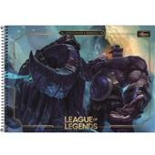 Caderno Cartografia e Desenho Capa Dura 80 FL League of Legends B 1 UN Tilibra