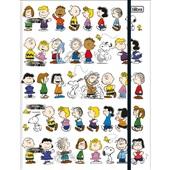 Caderno Argolado Universitário Cartonado com Elástico 80 FL Snoopy 1 UN Tilibra