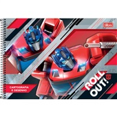 Caderno Cartografia e Desenho Capa Dura 80 FL Transformers A 1 UN Tilibra