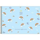 Caderno Cartografia e Desenho Capa Dura 80 FL Rainbow A 1 UN Tilibra