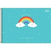 Caderno Cartografia e Desenho Capa Dura 80 FL Rainbow B 1 UN Tilibra