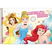 Caderno Cartografia e Desenho Capa Dura 80 FL Princesas B 1 UN Tilibra