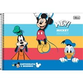 Caderno Cartografia e Desenho Capa Dura 80 FL Mickey B 1 UN Tilibra