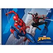 Caderno Cartografia e Desenho Capa Dura 80 FL Spider Man A 1 UN Tilibra