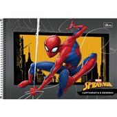 Caderno Cartografia e Desenho Capa Dura 80 FL Spider Man B 1 UN Tilibra