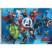 Caderno Cartografia e Desenho Capa Dura 80 FL Avengers A 1 UN Tilibra