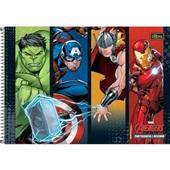 Caderno Cartografia e Desenho Capa Dura 80 FL Avengers B 1 UN Tilibra