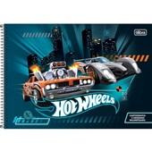 Caderno Cartografia e Desenho Capa Dura 80 FL Hot Wheels B 1 UN Tilibra