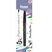 Caneta Brush Sign Pen Preto 1 UN Pentel