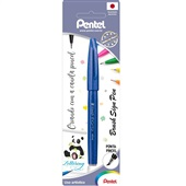 Caneta Brush Sign Pen Azul 1 UN Pentel