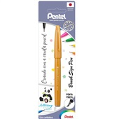 Caneta Brush Sign Pen Ouro 1 UN Pentel
