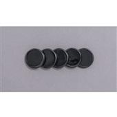 Discos + Elástico para Caderno Inteligente 31mm Preto Kit 1 UN