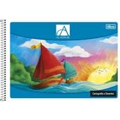 Caderno Cartografia e Desenho Capa Flexível 96 Fl Académie 1 UN Tilibra