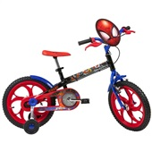 Bicicleta Aço Spider Man Aro 16 Azul 1 UN Caloi