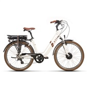 Bicicleta Elétrica Breeze E-Urban 2020 Aro 26 Pérola Quadro Tamanho Ún