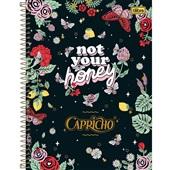 Caderno Universitário Capa Dura 10 Matérias 160 FL Capricho B 1 UN Tilibra