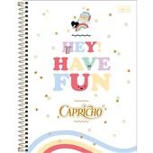 Caderno Universitário Capa Dura 10 Matérias 160 FL Capricho C 1 UN Tilibra