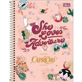 Caderno Universitário Capa Dura 10 Matérias 160 FL Capricho D 1 UN Tilibra