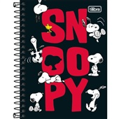 Caderneta Espiral Capa Dura 1/8 80 FL Snoopy B 1 UN Tilibra