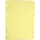 Divisória Fichário 4 Furos 6 Projeções Amarela 21x29,7cm Jotapel