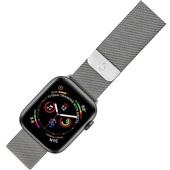 Pulseira Apple Watch Milanese 42 a 44mm Prata 1 UN Geonav