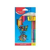 Lápis de Cor Triangular Color Peps Star 24 Cores e 3 Lápis Preto Maped
