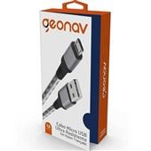 Cabo Micro USB 1,5m Prata 1 UN Geonav