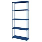 Estante de Aço Flex com 5 Prateleiras Azul 80x175x28,5cm 1 UN Elite Aço