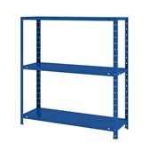 Estante de Aço Flex com 3 Prateleiras Azul 80x90x28,5cm1 UN Elite Aço