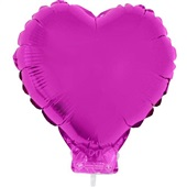 Balão Coração com Vareta N°11 Pink 1 UN Funny Fashion