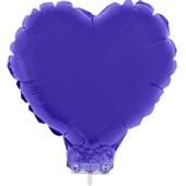 Balão Coração com Vareta Nº11 Roxo 1 UN Funny Fashion