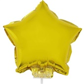 Balão Estrela com Vareta N°11 Ouro 1 UN Funny Fashion