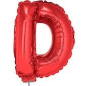 Balão Letra D com Vareta Nº16 Vermelho 1 UN Funny Fashion