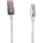 Cabo Lightining USB MFI Soft 1m Cinza Espacial 1 UN OEX