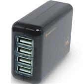 Carregador de Tomada 4 Saídas USB Preto 1 UN i2GO