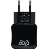 Carregador de Tomada 2 Saídas USB Preto 1 UN i2GO