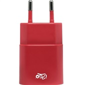 Carregador de Tomada USB Vermelho 1 UN i2GO