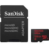 Cartão de Memória Micro SD Ultra 128GB com Adaptador Prova d' Água Classe 10 1 UN SanDisk
