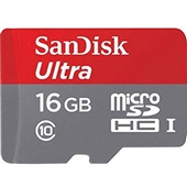 Cartão de Memória Micro SD Ultra 16GB com Adaptador Classe 10 1 UN SanDisk